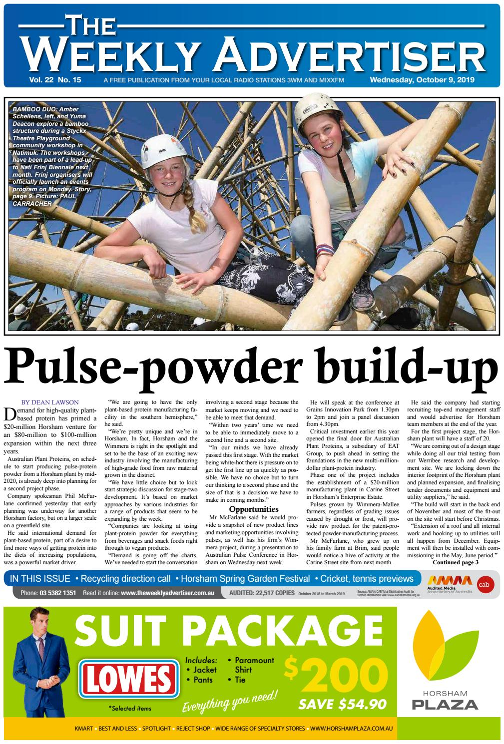 The Weekly Advertiser Wednesday October 9 2019 By The