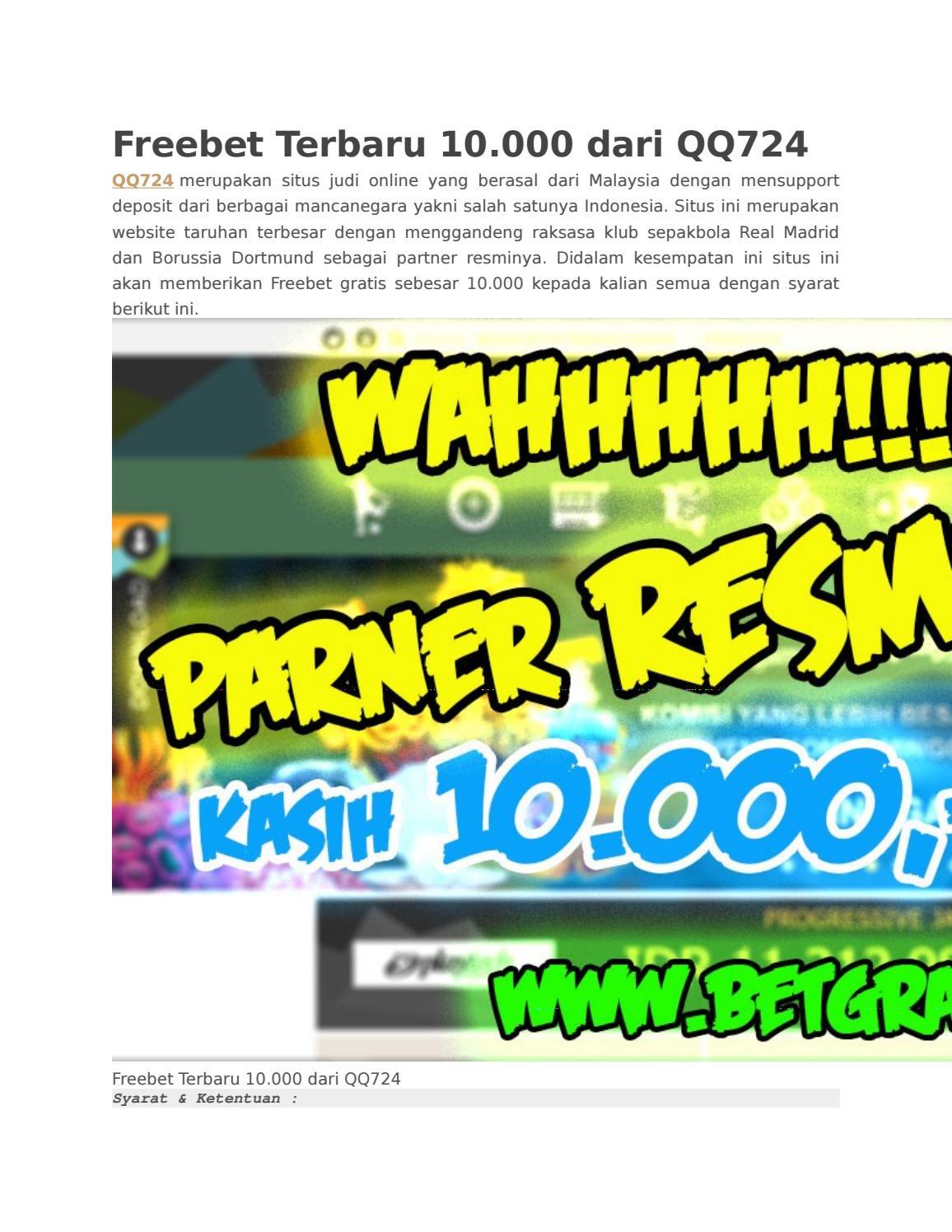 Freebet Terbaru 10 000 Dari Qq724 By Freebet Terbaru Issuu