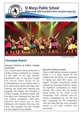 Page 1 of SMPS Term 3 Week 10 Newsletter