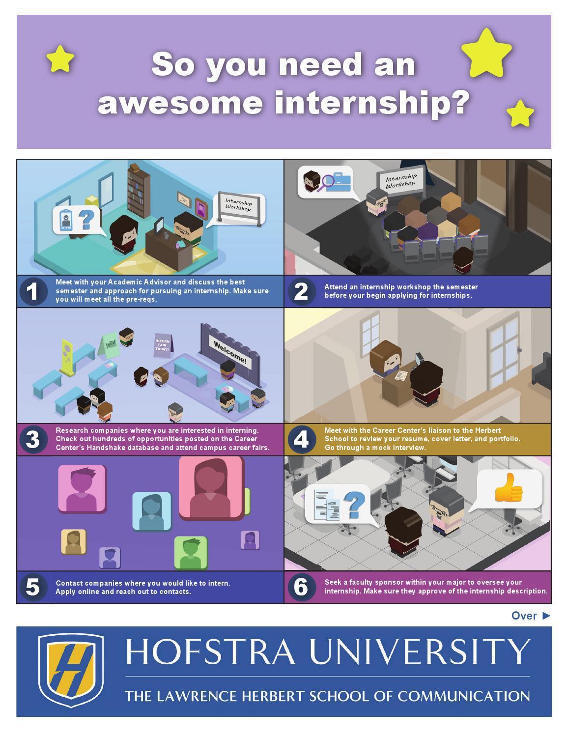 Journalism Internship Flyer by Hofstra University - issuu