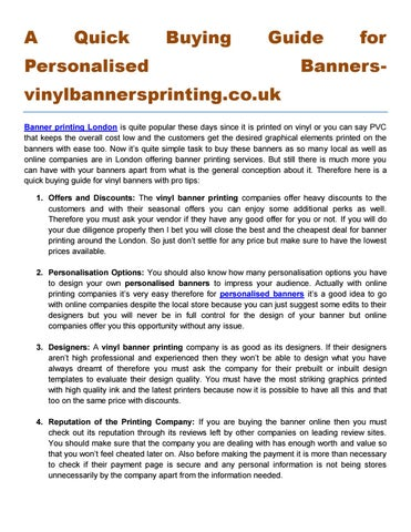 new list new concept so cheap A Quick Buying Guide for Personalised Banners ...