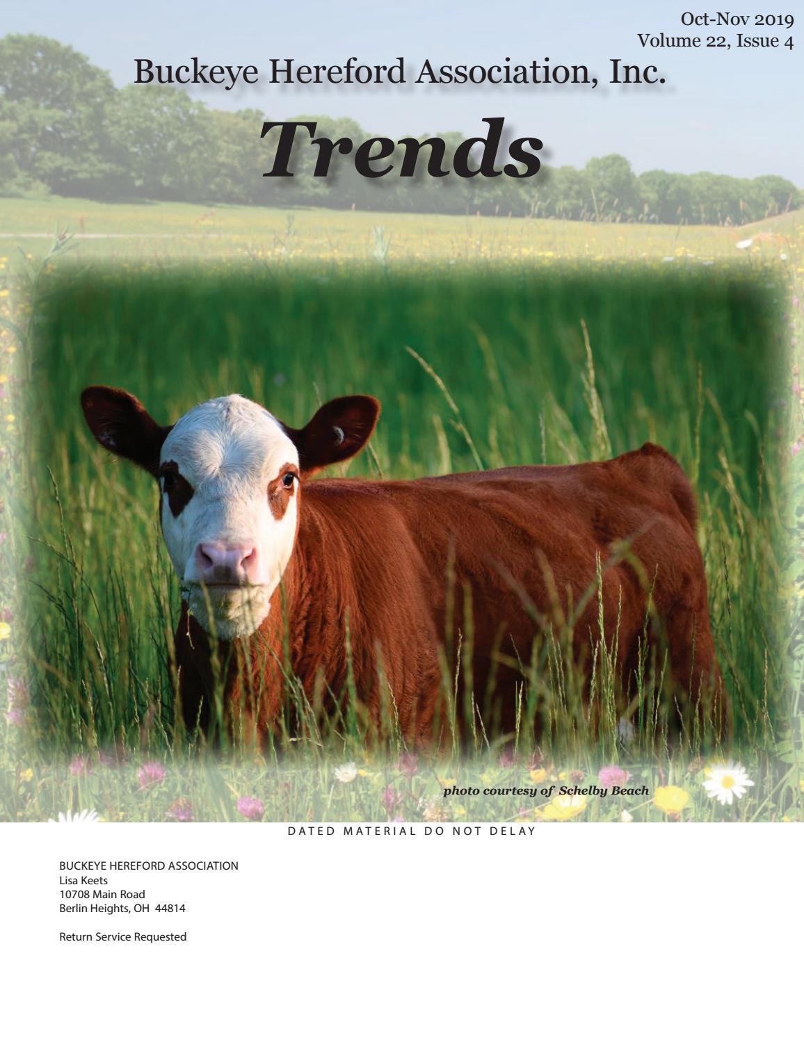 Buckeye Hereford Trends October 2019 By Ohioherefordlady Issuu