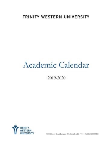 Mpc Spring Break 2020.2019 20 Academic Calendar By Twu Issuu