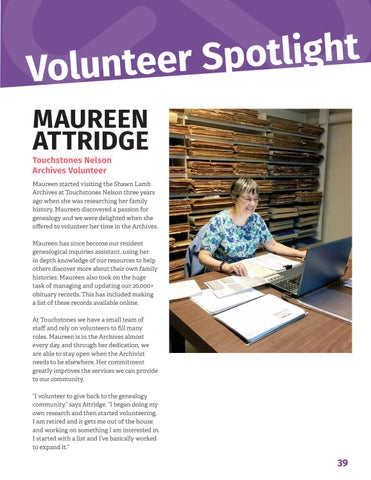 Page 41 of Volunteer Spotlight: Maureen Attridge