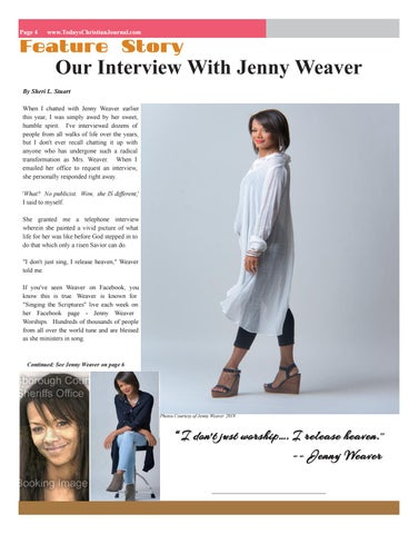 Page 4 of Our Interview with Jenny Weaver