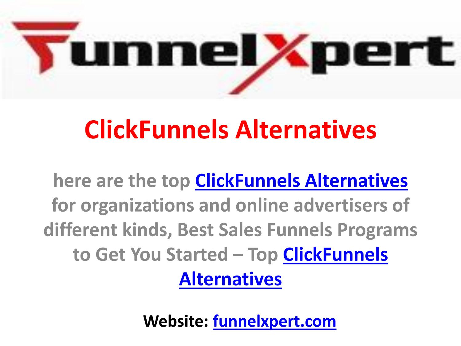 Everything about Clickfunnels Alternatives