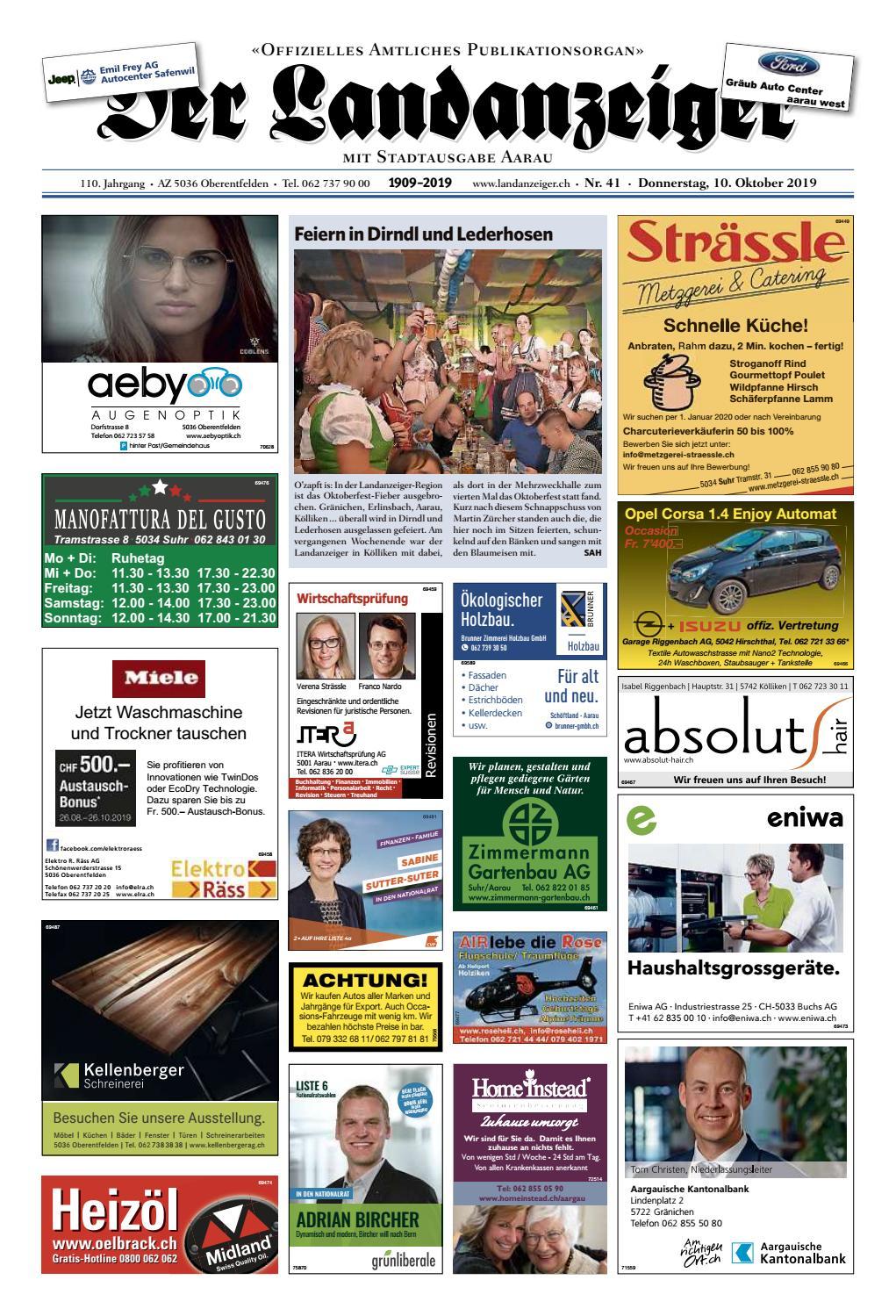 Der Landanzeiger 41 19 By Zt Medien Ag Issuu