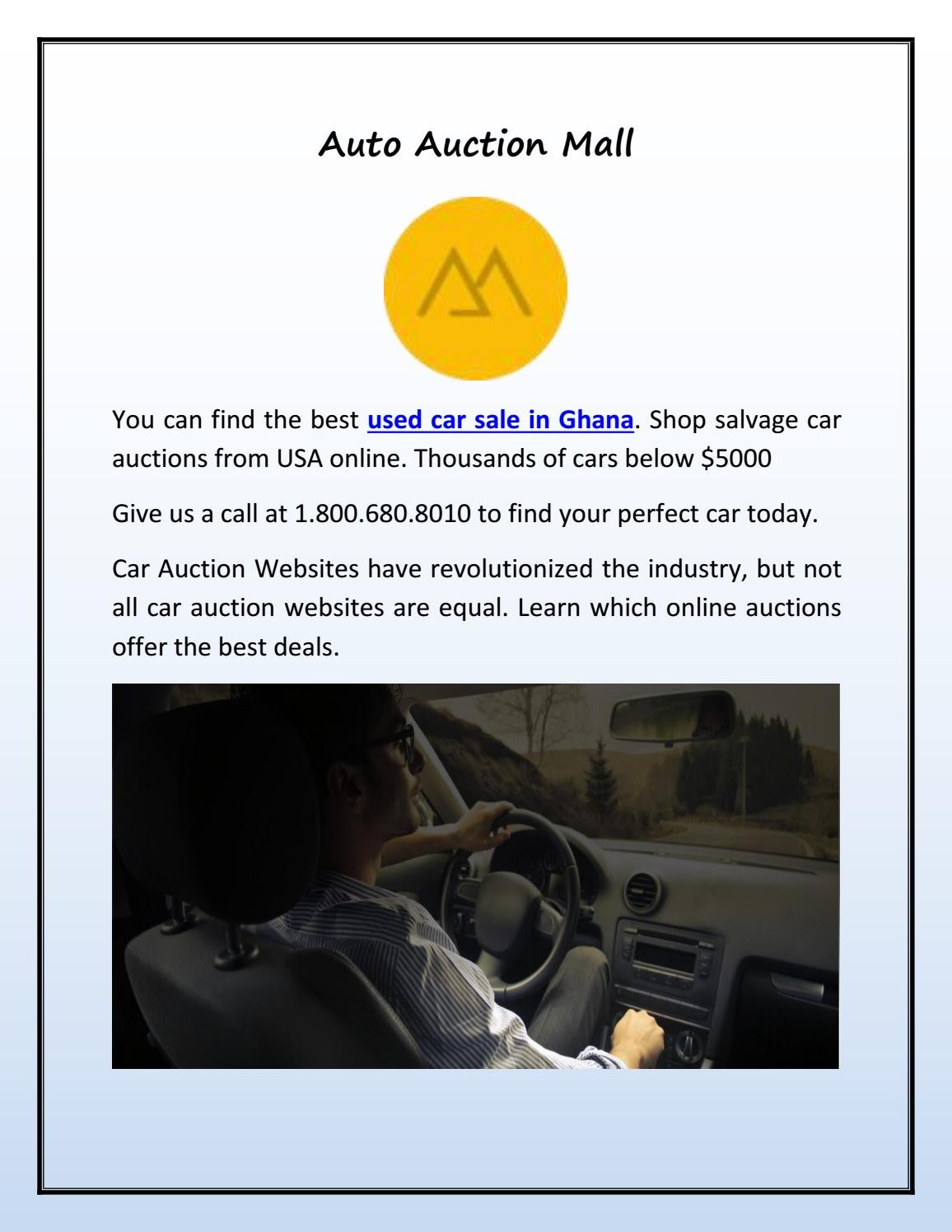 Car Auction Usa >> Used Car Sale In Ghana By Auto Auction Mall Issuu