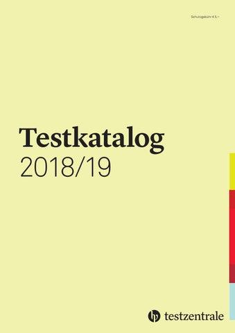 Testkatalog 201819 Deutschland By Hogrefe Issuu