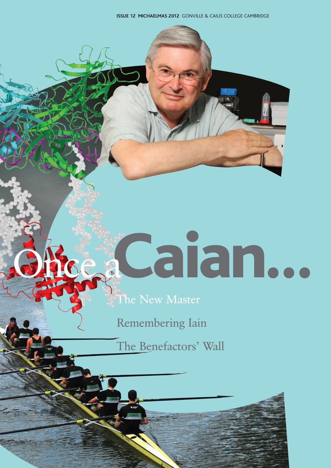 Once A Caian Issue 12 By Gonville Caius College Issuu