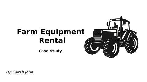 Farm Equipment Rental By Sarah John Issuu