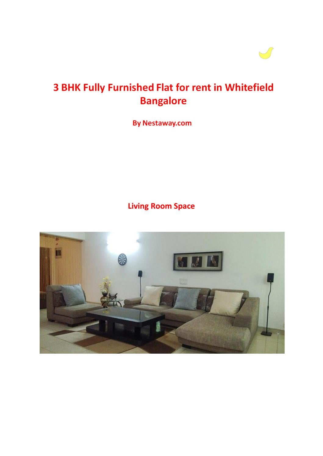 3 Bhk Fully Furnished Flat For Rent In Whitefield Bangalore By Nestaway Issuu