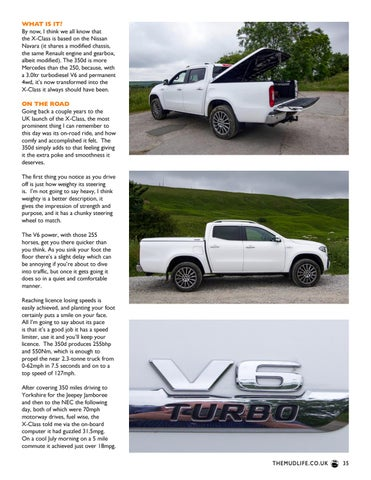 Page 35 of Mercedes X-Class 350d