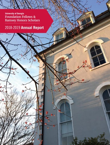 Foundation Fellows Annual Report 2018 2019 By Uga Honors Program