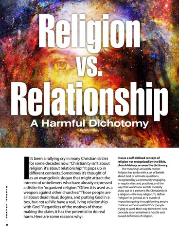 Page 10 of Religion vs. Relationship: A Dangerous Dichotomy