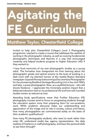 Page 20 of Agitating the FE Curriculum