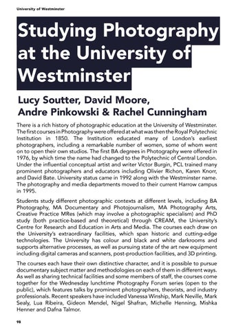 Page 98 of Studying Photography at the University of Westminster