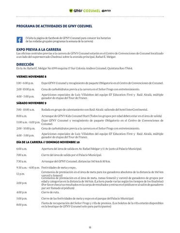 Page 18 of SCHEDULE OF EVENTS
