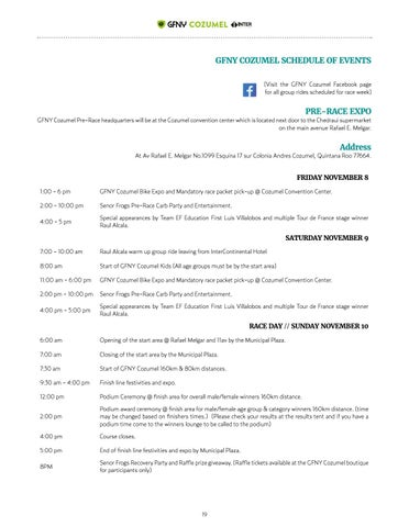 Page 19 of SCHEDULE OF EVENTS