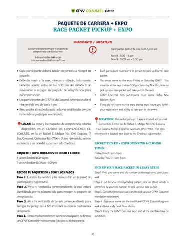 Page 36 of RACE PACKET PICKUP + EXPO