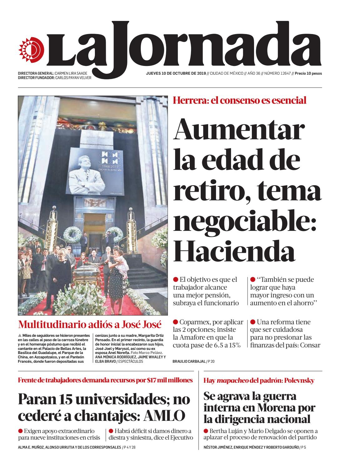 La Jornada 10 10 2019 By La Jornada Issuu