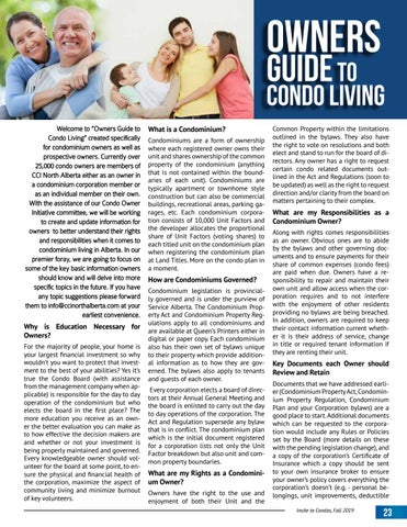 Page 23 of Owners Guide to Condominium Living