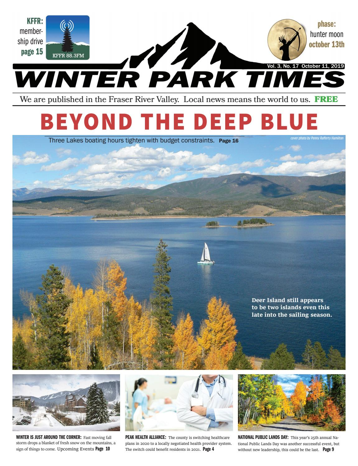 Headwaters Park Events 2020.October 11 2019 Winter Park Times By Winter Park Times