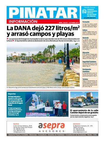Pinatar Información Octubre 2019 By Estudio Prensa Issuu