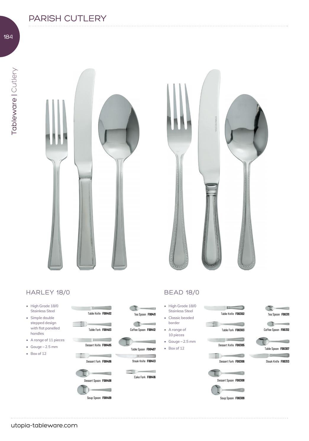 Pack of 12 Parish Cutlery Utopia F00409 Harley Soup Spoon