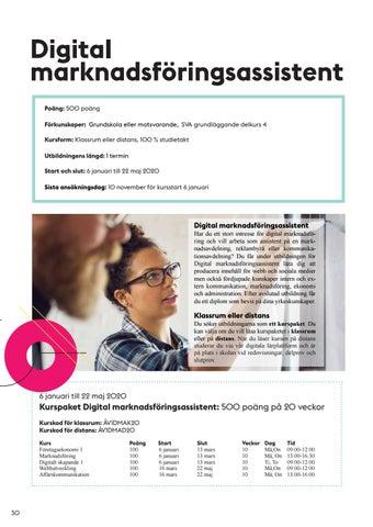 Page 30 of Digital marknadsföringsassistent, 1 termin