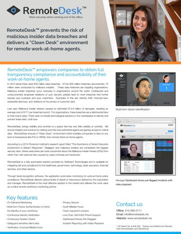 Page 1 of Remotedesk -Adopt a remote workforce with confidence.