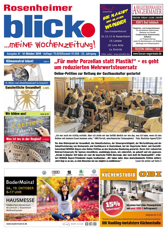 Rosenheimer blick Ausgabe 41 | 2019 by Blickpunkt Verlag