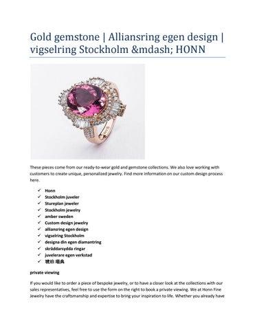 designa egen ring stockholm