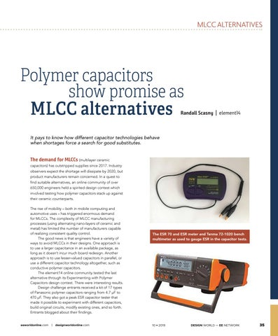 Page 37 of Polymer capacitors show promise as MLCC alternatives