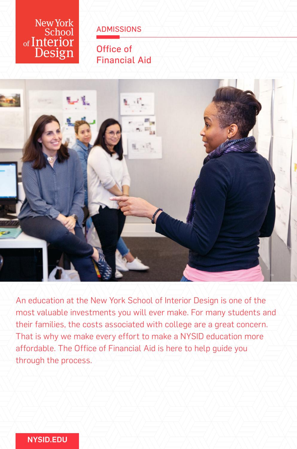 Office Of Financial Aid By New York School Of Interior Design Issuu