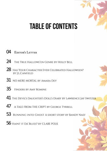 Page 3 of Table of contents