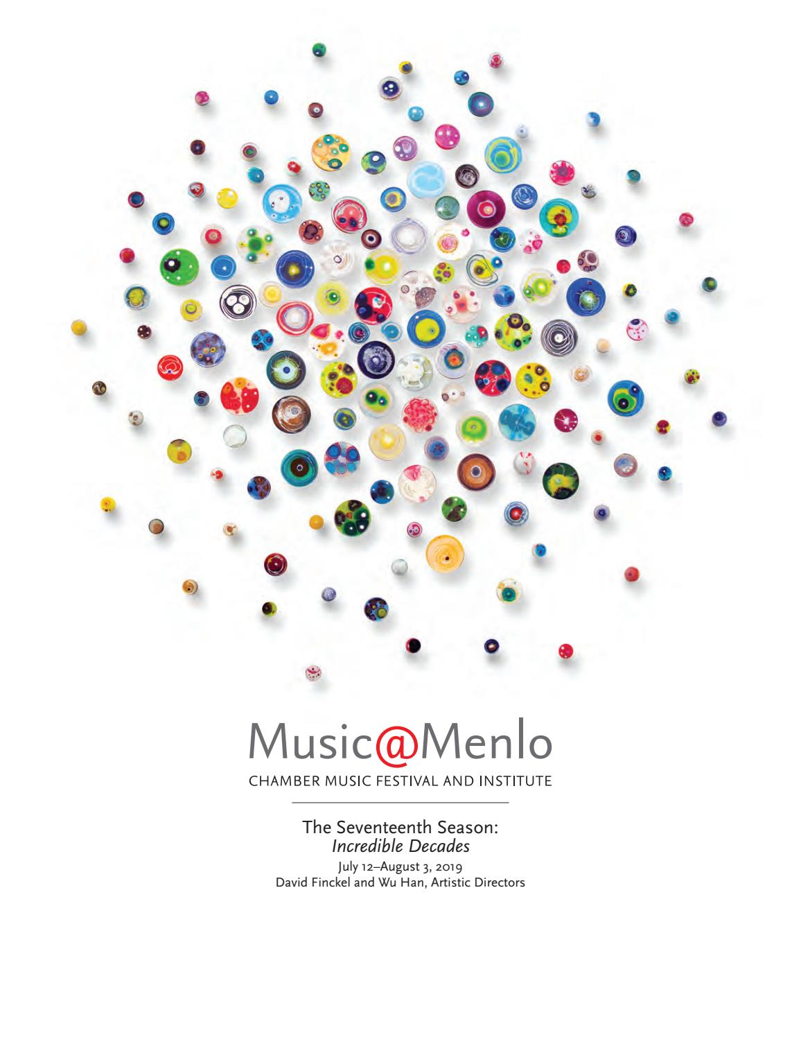 Music Menlo 2019 Program Book by Claire Graham issuu