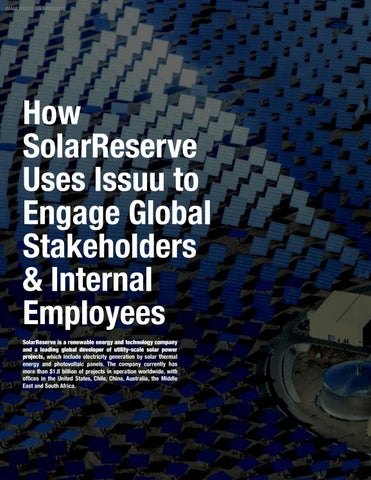 Page 22 of How SolarReserve Uses Issuu to Engage Global Stakeholders & Internal Employees