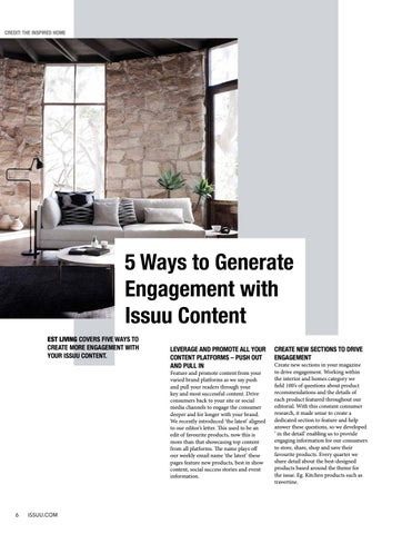 Page 6 of 5 Ways to Generate Engagement with Issuu Content