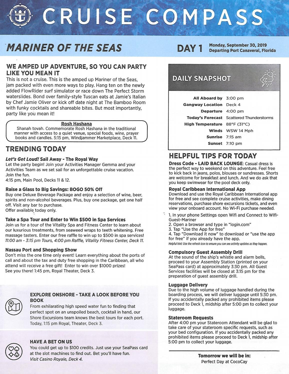 Mariner Of The Seas 4-night 2 Stops At Perfect Day At