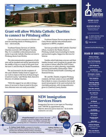 Page 5 of Grant Will Allow Wichita Catholic Charities to Connect to Pittsburg Office