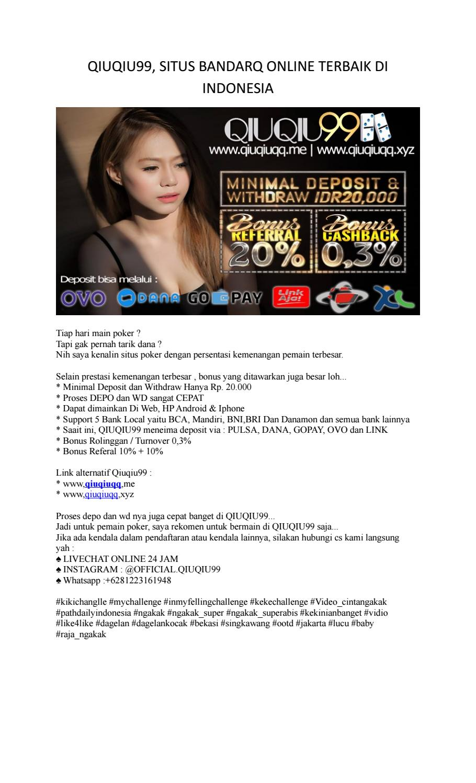 Qiuqiu99 Situs Bandarq Online Terbaik Di Indonesia By Naila Afifa Issuu