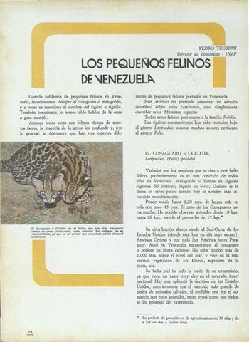 Page 3 of Los pequeños felinos de Venezuela - Pedro Trebbau (1976)