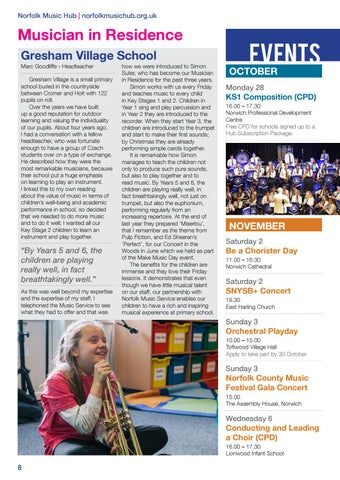 Page 8 of Musician in Residence at Gresham Village School