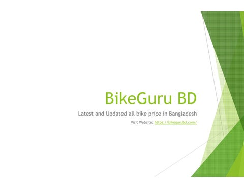 Bike Deals In Bangladesh Bikeguru Bd By Bikegurubd1 Issuu