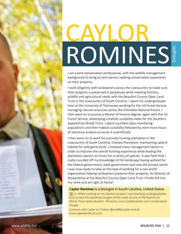 Page 11 of Caylor Romines: Life of a Biologist