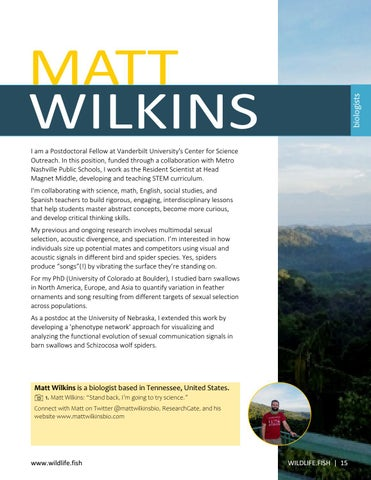 Page 15 of Matt Wilkins: Life of a Biologist