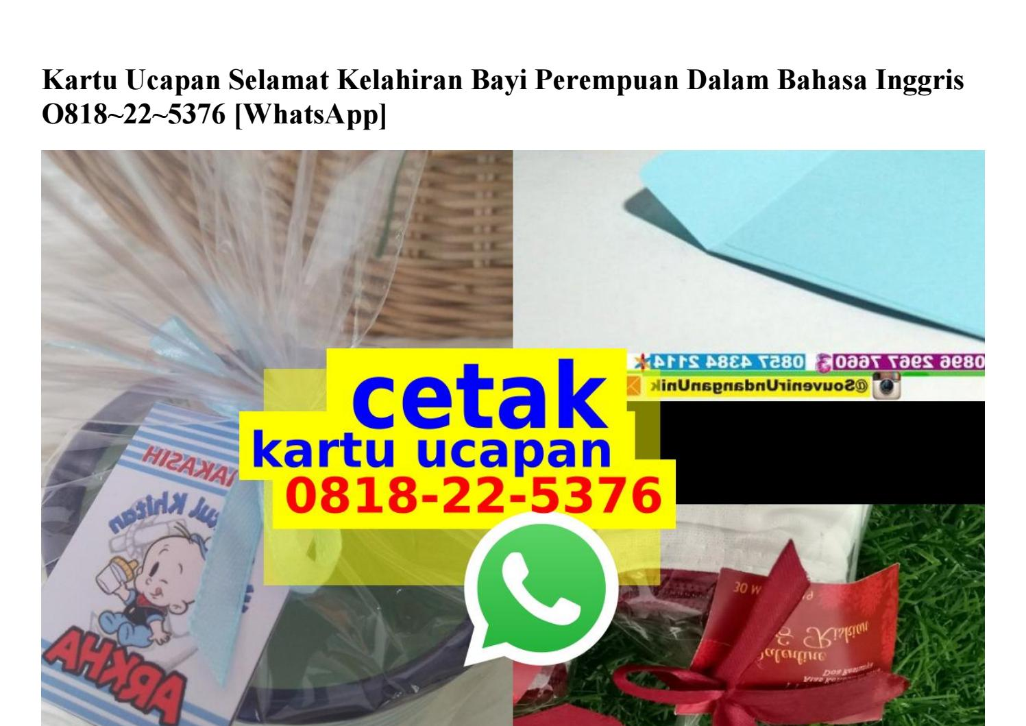 Kartu Ucapan Selamat Kelahiran Bayi Perempuan Dalam Bahasa Inggris 0818 22 5376 Wa By Gandaria Mengkudu Issuu