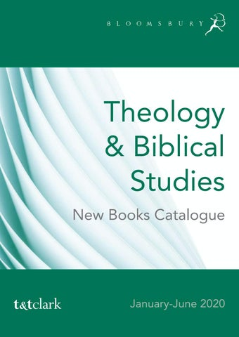 New Books 2020.Theology Biblical Studies New Books Jan June 2020 By