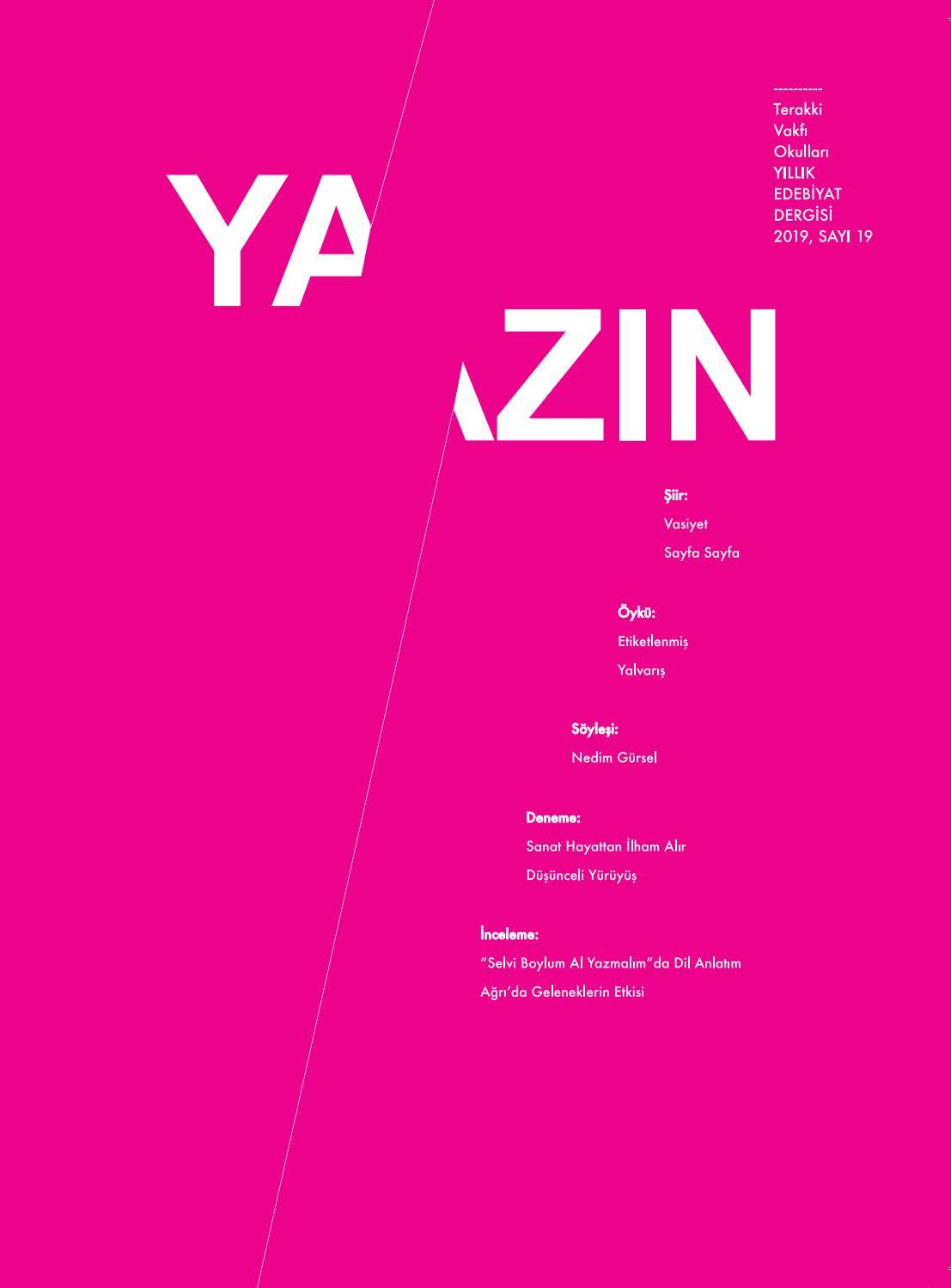 yazin yillik edebiyat dergisi 2019